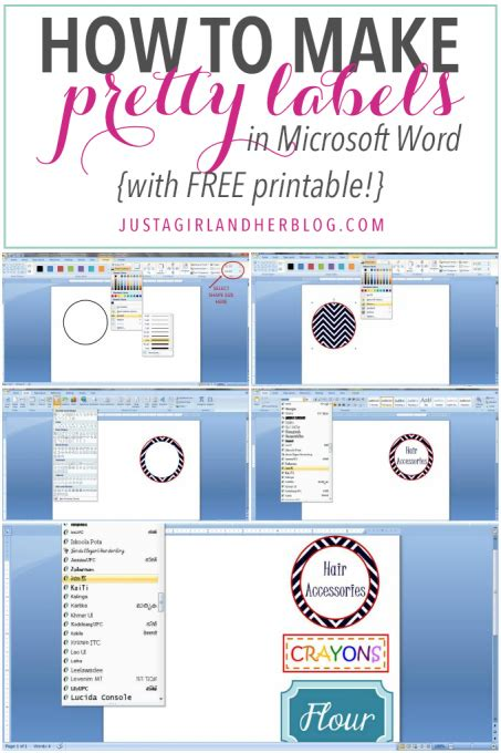 How To Make Pretty Labels In Microsoft Word Microsoft Word Sticker Label Template