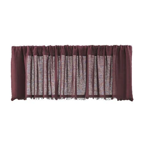 Tobacco Cloth Curtains Tobacco Cloth Merlot Curtain Valance