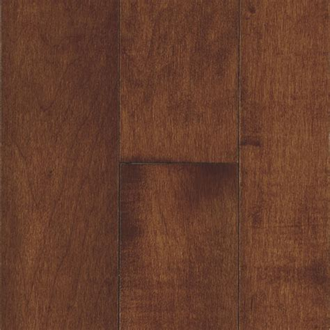 shop bruce natural reflections 2 25 in w prefinished maple hardwood flooring cherry at lowes com