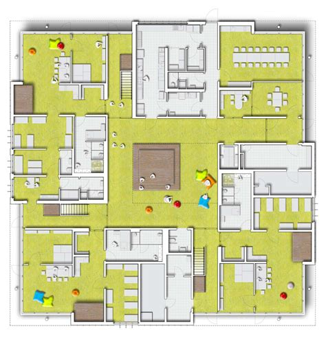 daycare floor plan metallic skin day care centre in essen detail online com