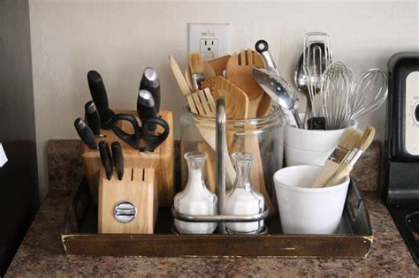 kitchen countertop organization ideas storage friendly accessory trends for kitchen countertops