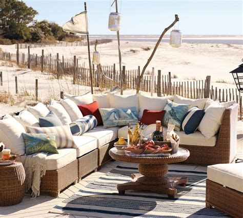 rooms to go palmetto designing outdoor living room w palmetto sectional by pottery barn modern outdoors