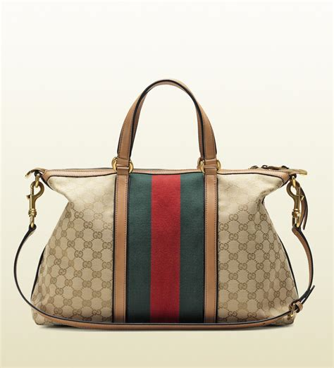 Gucci Bags by Gucci Rania Top Handle Original Gg Canvas Top Handle Bag