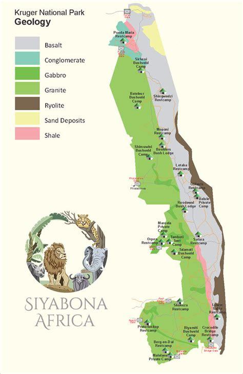 kruger national park map kruger park geological map kruger park travel information