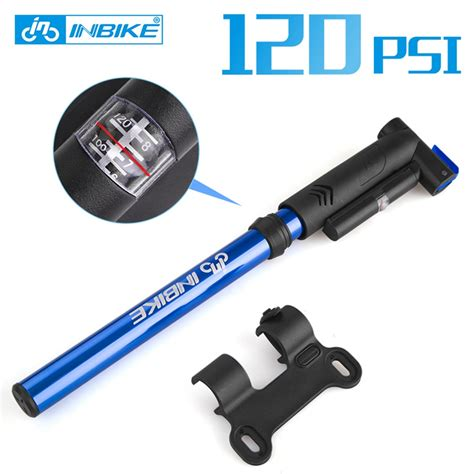 portable mini bike pump with pressure gauge Aluminum Alloy high perssure mtb air pump hose only