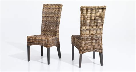 Dining Room All Weather Wicker Furniture Sale Chair Cane Wicker Dining Chairs For Sale