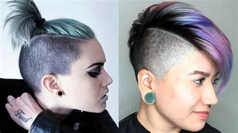 how to cut female hair with short sides and long top long top short sides haircut women extreme short hair