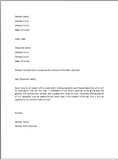 Gift Letter Word Document Sle Ready To Use Gift Letter Template Formal Word Templates