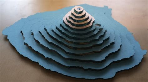 How To Make 3d Models With Paper - 3d paper model of mt fuji