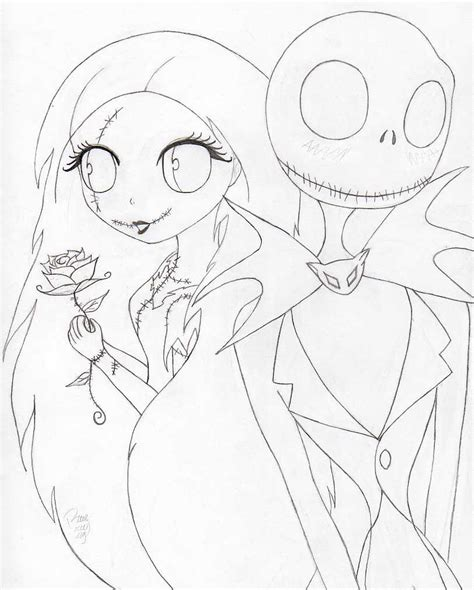 jack and sally by blue britt bug on deviantart