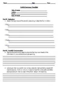 Environmental Report Writing by Environmental Health Report Writing Format For High School Students