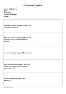 lesson plan observation template observation template pgce ta by uk