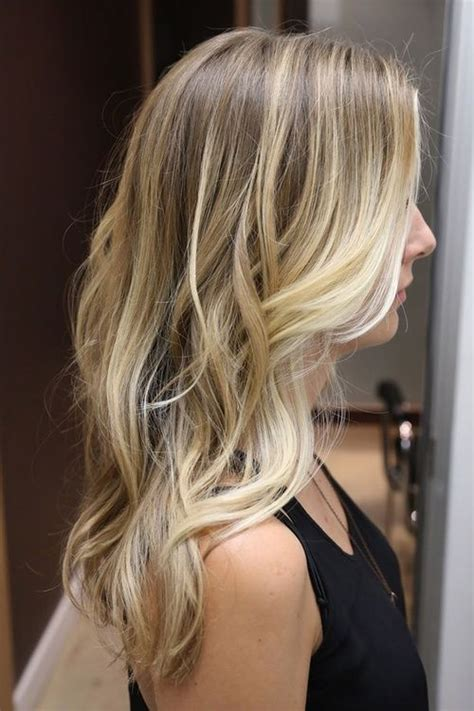 fine blonde highlights medium blonde with light blonde thin highlights and then