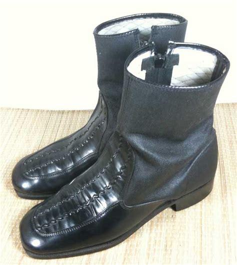 vtg 60s mens mod rubber zip up snow boots 8 5 e