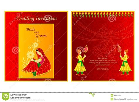 Indian Wedding Card Design Vector by Indian Wedding Invitation Card Stock Vector Image 48581901