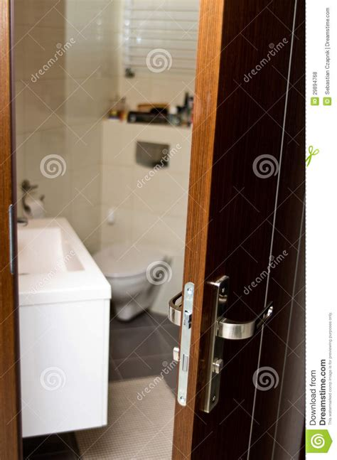 Through Bathroom Door Bathroom Door Royalty Free Stock Photos Image 29894768