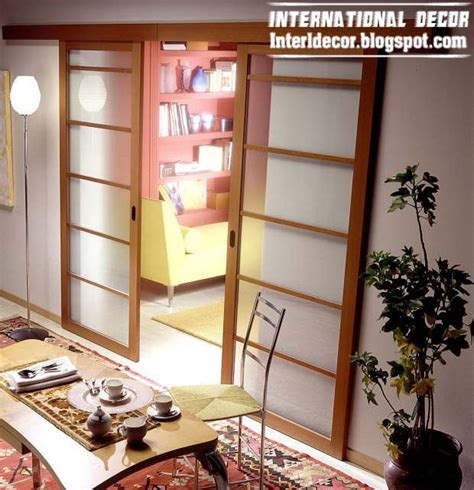 wooden frame glass door modern sliding doors designs wide for office room interior