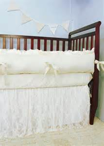 baby bedding crib bedding ivory lace and ivory cotton