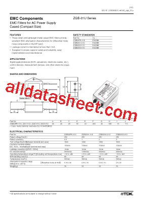 tdk capacitors datasheet zgb2203 01u datasheet pdf tdk electronics