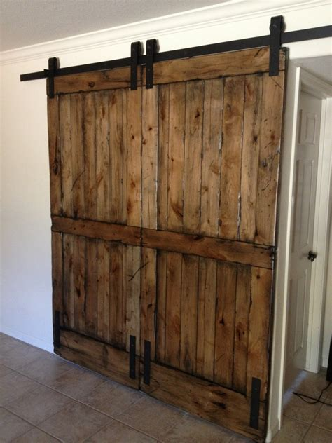 Knotty Alder Double Sliding Barn Door Double Sliding Sliding Interior Barn Door