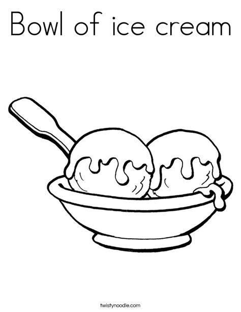 ice cream bowl coloring page bowl of ice cream coloring page twisty noodle
