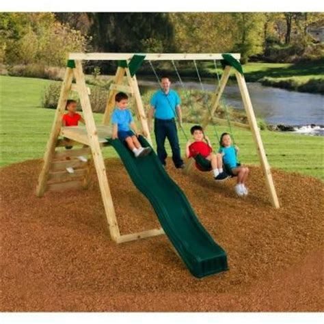 home depot swing n slide pine bluff play set just add 4x4 s and slide play sets