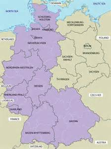 map of west germany