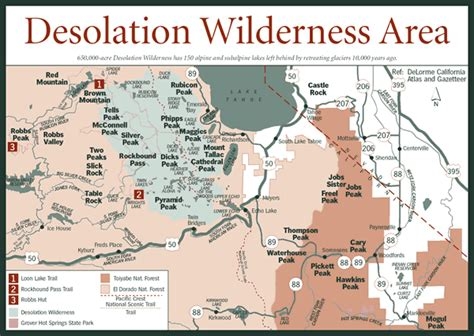 desolation wilderness map sherpa guides california nevada desolation wilderness area map