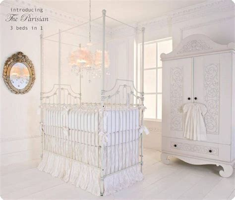 White Bellini Crib by Bellini White Wrought Iron Crib Brattdecor Glamnursery