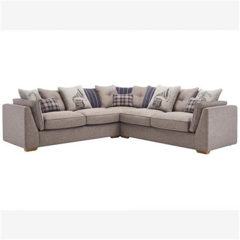four seater corner sofa california 4 seater pillow back corner sofa civic smoke