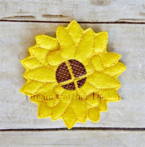 Sun Flowers Flanel ith sun flower puzzle felt embroidery design dreamcatcher designs