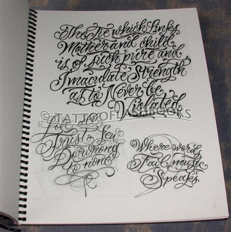 tattoo lettering book tattooflashbooks com sir twice stick to the script