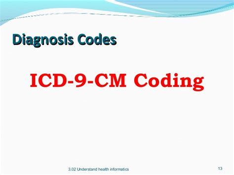 icd 9 cm vol 1 diagnostic codes 72887 find a code 3 02 understand health informatics