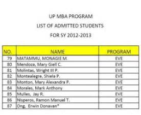Indeed Mba by Up Mba Application Experience Rm Nisperos