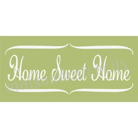 home sweet home script 5 5x11 5 stencil
