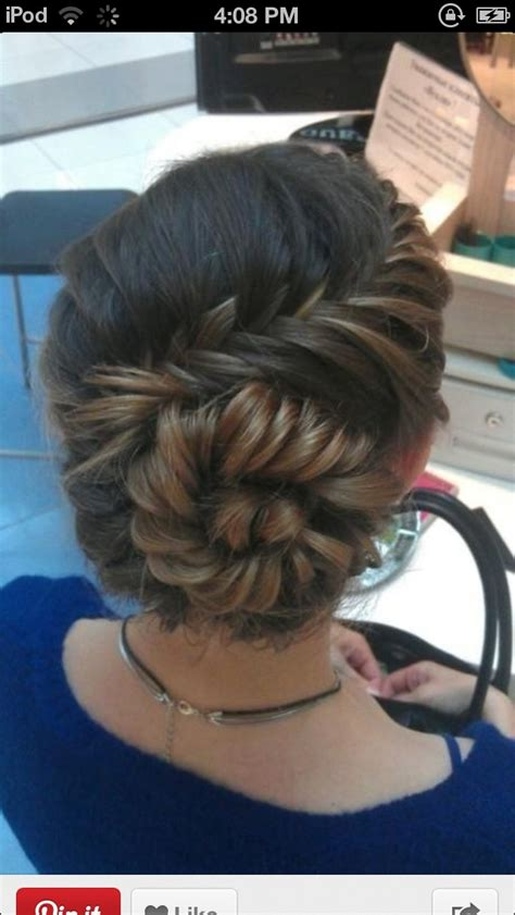 hairbuns on pinterest french braid buns updo and updos french fishtail braid bun bun fishtail hair formal