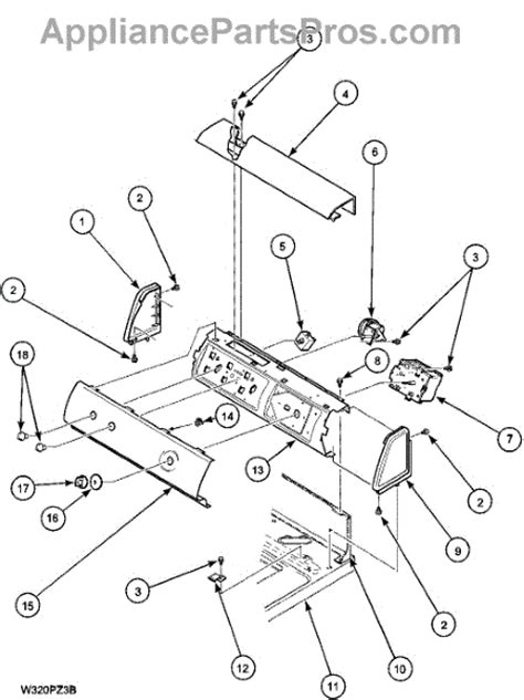 amana washer parts diagram parts for amana lwa40al2 plwa40al2 panel parts