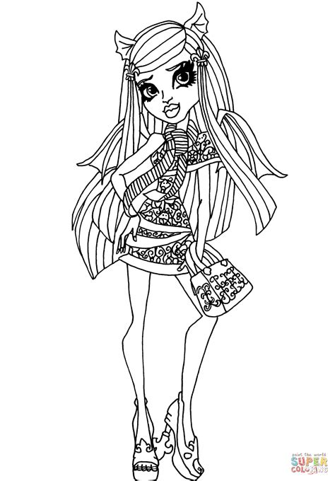 monster high ghouls coloring pages ghouls night out rochelle coloring page free printable