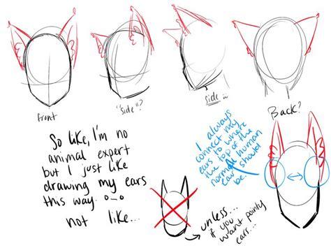 Anime Ears by How To Draw Animal Ears On A Nekomimi Gijinka Whatever