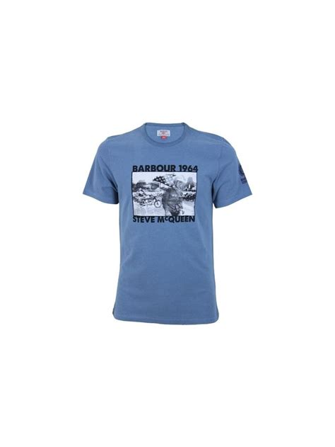 pursuit boats t shirts barbour steve mcqueen pursuit t shirt in chambray