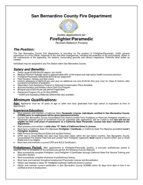 Paramedic Resume by Best 25 Firefighter Resume Ideas On Sle