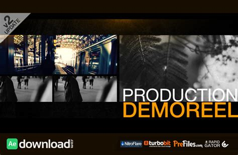 after effects free reel template production demo reel videohive project free download
