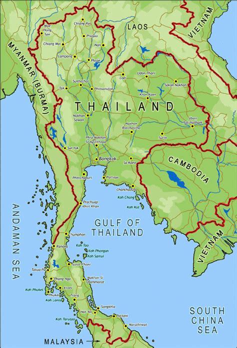 map thailand visit thailand info map of thailand map