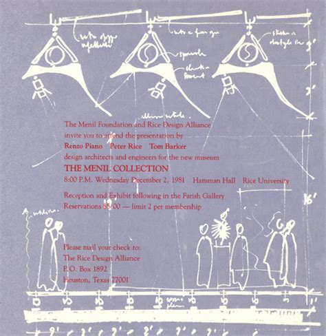 House Design Programs winter 1981 lecture series the menil collection the