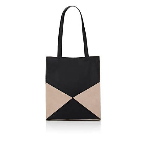 Barneys New York Canvas Tote Bag by Barneys New York Colorblocked Tote Bag In Black Lyst