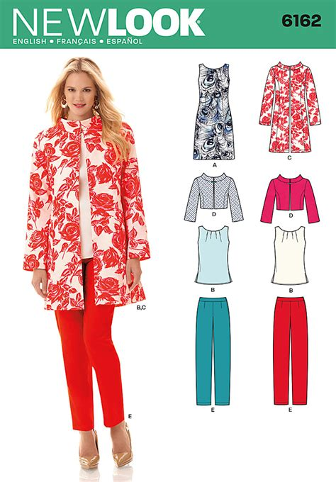 new pattern jeans pant new look 6162 misses dress top and jacket and pants