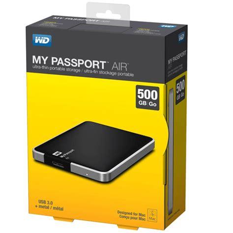 wd my passport air ultra slim all metal usb 3 0 500gb black jakartanotebook