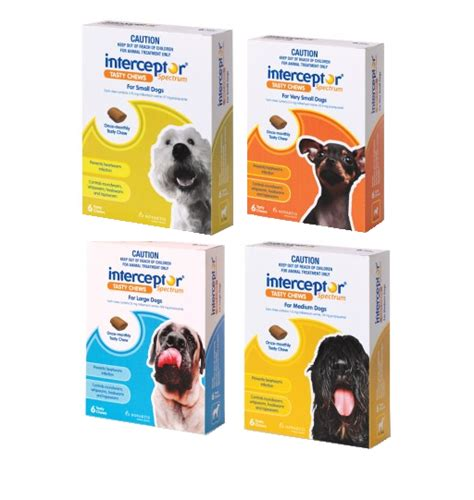 heartworm interceptor spectrum dogs interceptor spectrum tasty chew prevents heartworm infection