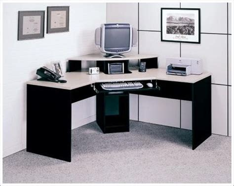 pleasing corner office desk in budget home interior design