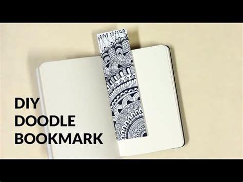 mini doodle bookmark diy mini doodle bookmark